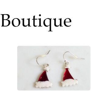 Jewelry - Brand New Santa Hat Earrings